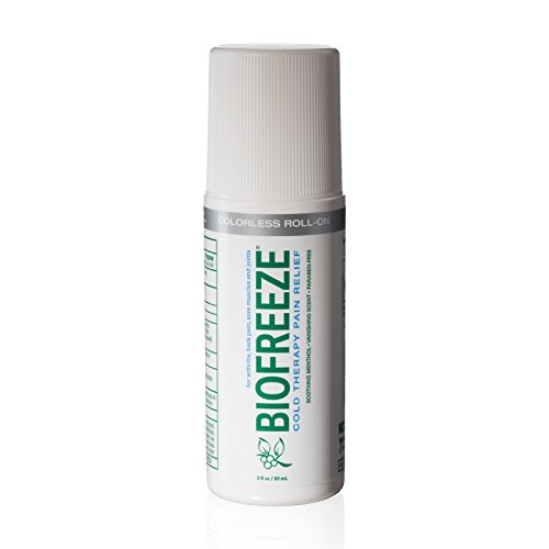 Biofreeze Pain Relief Gel for Arthritis, Fast Acting and Long Lasting Cooling Pain Reliever for Muscle Pain, Joint Pain, Back Pain, 3 oz. Roll-on Topical Analgesic, Colorless Formula (Foot Roller Freeze compare prices)