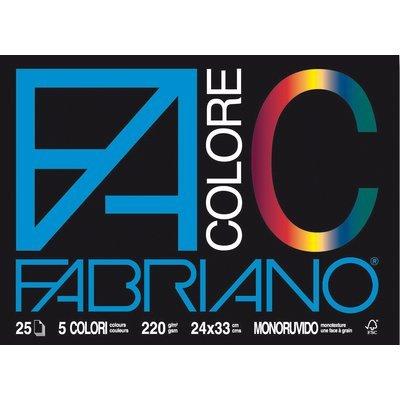 Fabriano-65251524-Colore-24X33-cm-220-GMq-25-Fogli-Multicolore