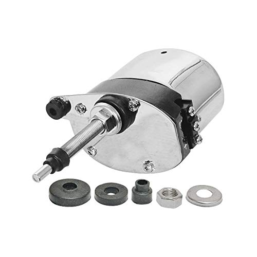 (MACs Auto Parts 28-21824 Model A Ford Electric Windshield Wiper Motor - 12 Volt - Stainless Steel Case - Replacement)