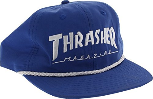 Thrasher Magazine Rope Blue / White Snapback Hat - Adjustable