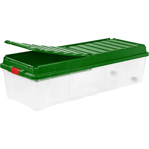 Artificial Christmas Tree Box - Tree Storage Tote with Compartment Lid