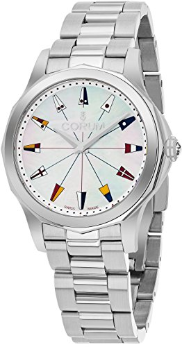 Corum Admiral's Cup Womens 32MM Mother-of-Pearl Face Stainless Steel Bracelet Swiss Watch 020.100.20/V200 PN22
