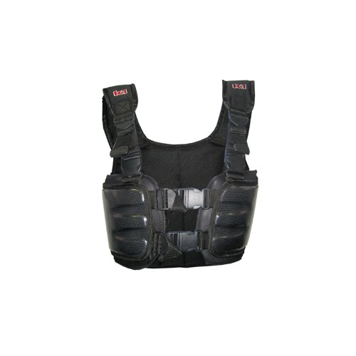 Go Kart Carbon Rib Vest//Riders Safety Jackets//Body Armour Cuircon Auto Racing Body Protectors Large, Silver//Black