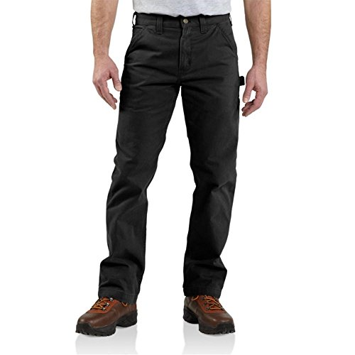 Carhartt Men's Washed Twill Dungaree Relaxed Fit,Black,31 x 32 by Carhartt