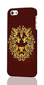 Floral Lion Pattern Image - Protective 3d Rough Case Cover - Hard Plastic 3D Case - For iPhone 4 4S
