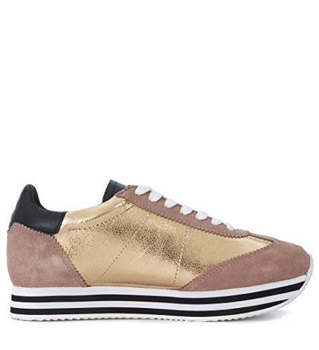 Rebecca Dorado Piel Sneaker Oro Y Minkoff En Susanna Rosa SBvdq