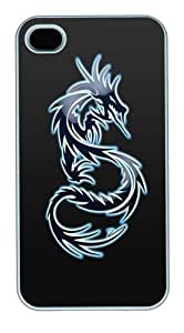 IMARTCASE iPhone 6 4.7 Case, Blue Fire Dragon Polycarbonate Back Case for Apple iPhone 6 4.7/5 White