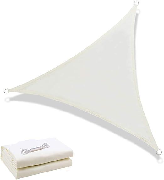 Toldo Triangular De La Vela De La Sombra Del Sol, Toldo De La Terraza Al Aire Libre 95% Protección ULTRAVIOLETA Grado Comercial Pesado, Conveniente Para La Cubierta Casera Del Patio,white,3*3*3M: Amazon.es: Hogar