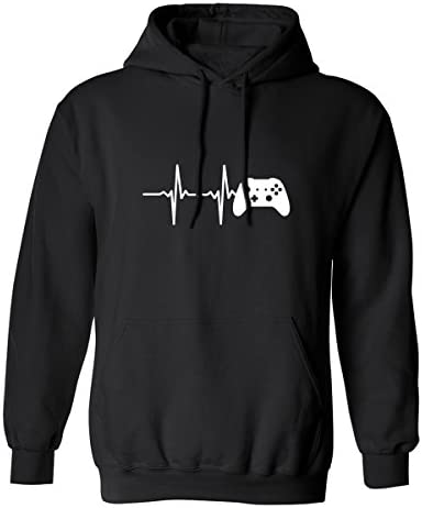 Heartbeat of a Gamer 2 Adult Hooded Sweatshirt 7