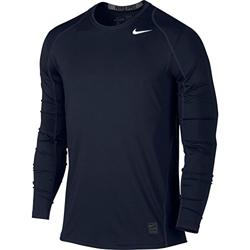 Nike Mens Hypercool Fitted Long Sleeve Shirt - Obsidian, X-Large Nike Long Sleeve Tee