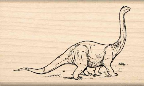 Dinosaur Rubber Stamp - 1-1/2 inches x 2-1/2 inches