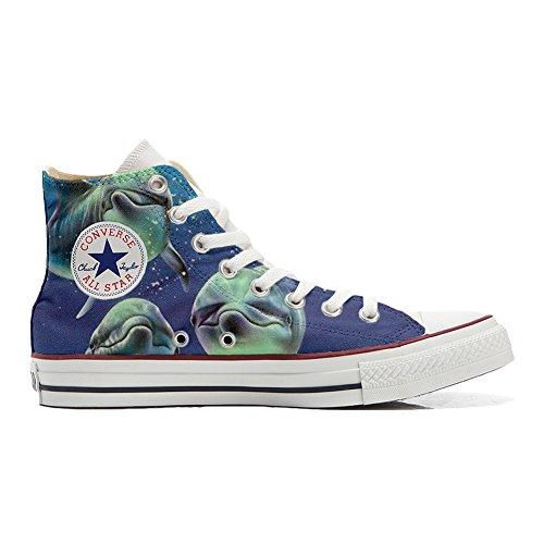 Personalizados Delfines All Star Producto 3 con posando Converse Zapatos Handmade vztawv5Axq