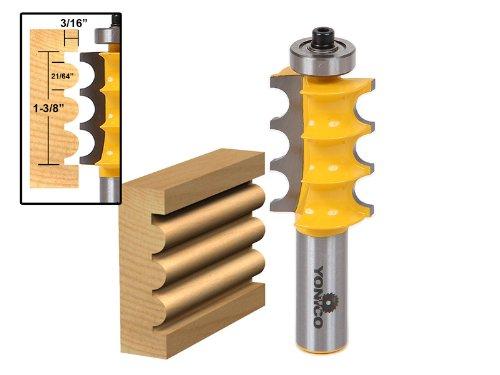 Yonico 16158 Large Triple Bead Column/Face Molding Router Bi