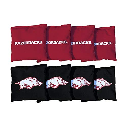 Victory Tailgate NCAA Collegiate Regulation Cornhole Game Bag Set (8 Bags Included, Corn-Filled) - Arkansas Razorbacks ()