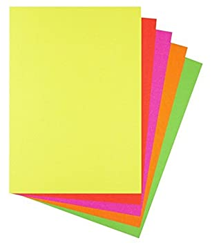 A4 A5 Coloured Arts /& Craft Sheets 80gsm Paper 160gsm Card Bright Pastel Neon