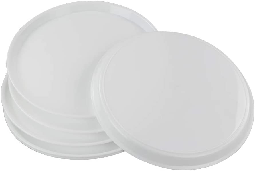 Jekiyo Plastic Round Trays for Serving, 13.5 Inches, 6 Packs