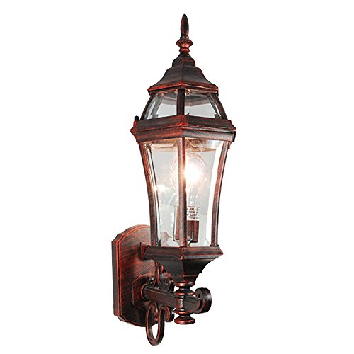 (ETOPLIGHTING La Maison Collection Terra-cotta Finish Exterior Outdoor Lantern Light with Beveled Glass, Wall APL1107)