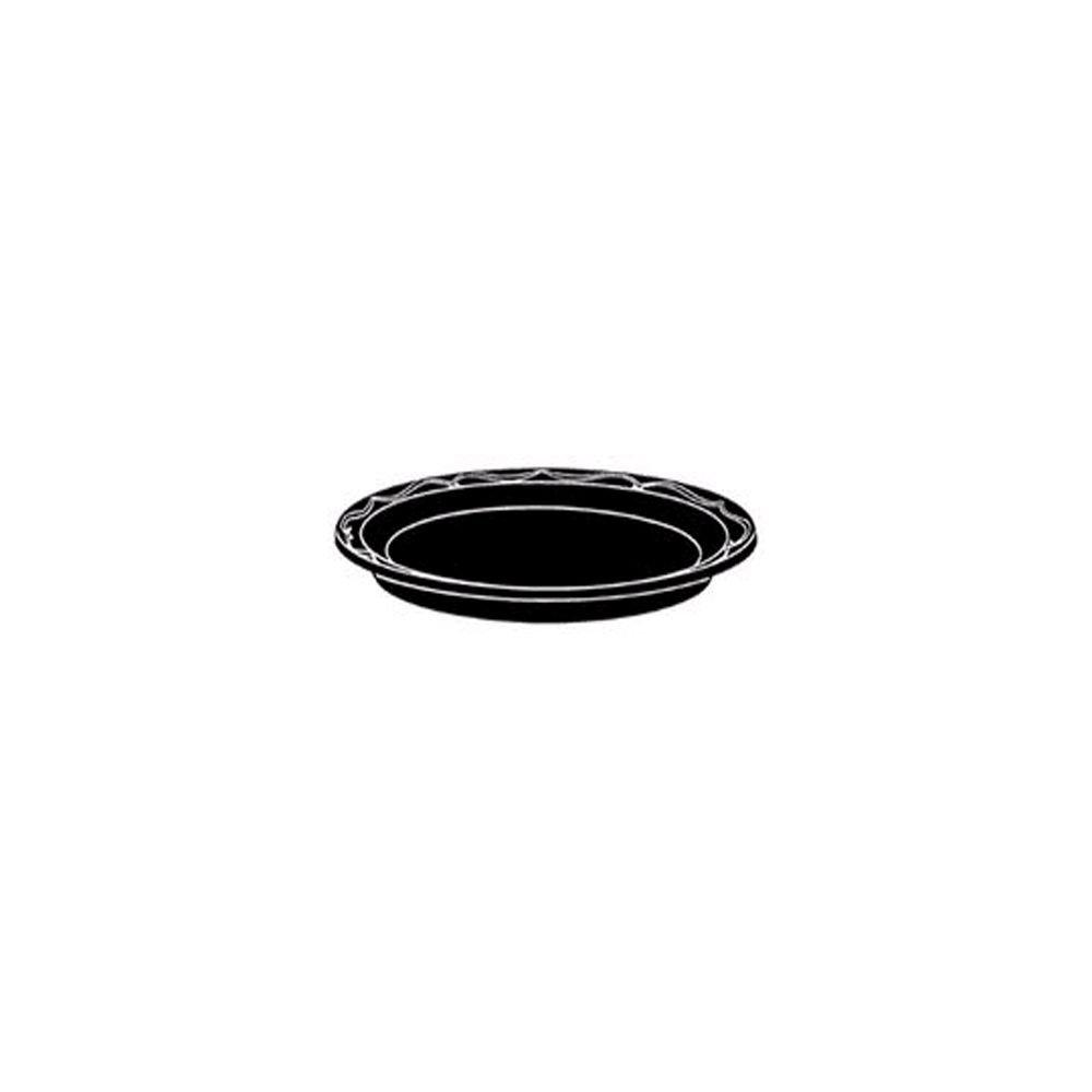 Genpak BLK07 Silhouette 7'' Black Plastic Plate - 1000 / CS by BUNZL (Image #1)