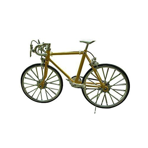 *S00104 High Artificial Zinc Alloy Racing Exquisite Bike Bicycle Model Front Yellow