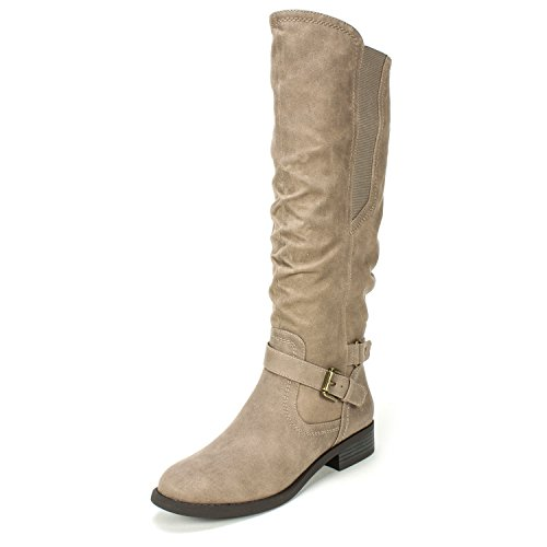 White Mountain Women's Lyle Knee High Boot, Taupe, 9 M US