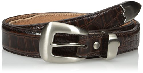 Croco Overlay - Nocona Belt Co. Men's Brown Gator Dress, 30