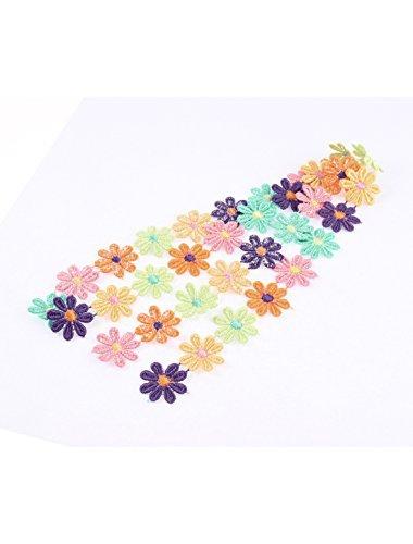 eDealMax polister Ciruela apliques de Encaje de Flores DE 2,5 cm Anchura Longitud 1M