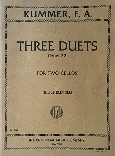 Three Duets for Two Cellos, Op. 22
