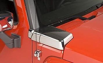 Chrome 2006-2010 Hummer H3 Rear Pillar Covers