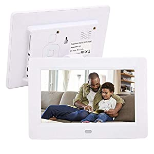 Bewinner Digital Photo Frame, 7inch 800 * 480Resolution 16:9 Multiple Languages HD Electronic Album Wide Screen…