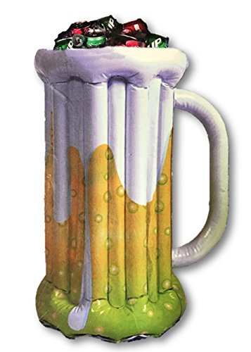 Price comparison product image Inflatable Beer Mug Pedestal Cooler