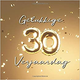 Gelukkige 30e Verjaardag Gastenboek Voor De Verjaardag Ballonnen