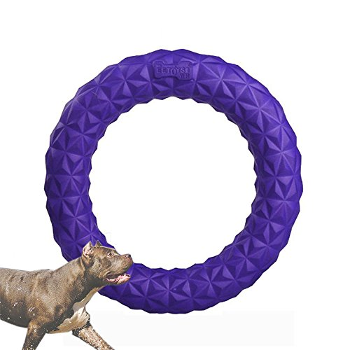 Dog Toys Chewing Ring, Pet Training Frisbee Interactive Dog Molars Tooth Cleaning, Anti-bite Bubble Dog Toys for Outdoor Playing by - Lakes At Pembroke