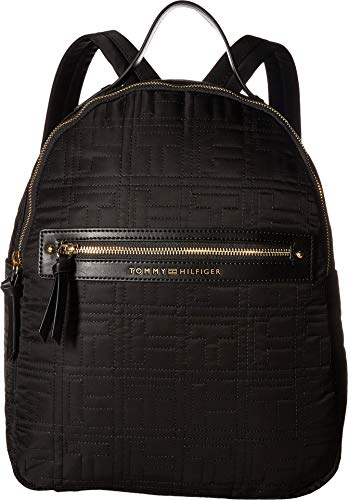 Tommy Hilfiger Women's Zoe Backpack Black One Size (Zoe Bag Top Handle)
