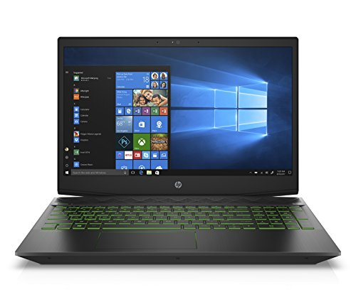 "Amazon Exclusive-HP Pavilion Gaming Laptop,15.6"" FHD IPS, Intel 8th Gen i7-8750H, NVIDIA GTX 1050Ti 4GB, 16GB RAM, 128GB SSD+1TB HDD, Narrow border design, Windows 10 Home (15-cx0042nr, Black)"