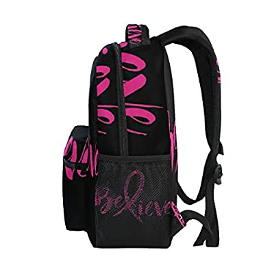 Stylish Believe Breast Cancer Backpack- Lightweight School College Travel Bags, ChunBB 16