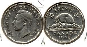 SCARCE 1948 Canadian Nickel ~~ High-Quality ()