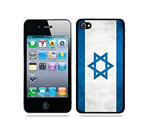 iphone covers Flag of Israel Grunge - Protective Designer BLACK Case - Fits Apple Iphone 6 plus / 4G