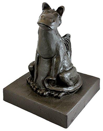 Emsco Group 92530 Lightweight Smiling Dragon Garden Statue, 21'', Bronze by Emsco Group