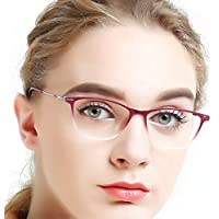 Eyewear Frames-OCCI CHIARI-Rectangle Lightweight Non-Prescription Eyeglasses Frame with Clear Lenses For Womens 52mm …