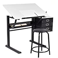 NEW Drafting Table Art & Craft Drawing Desk Art Hobby Folding Adjustable w/ Stool