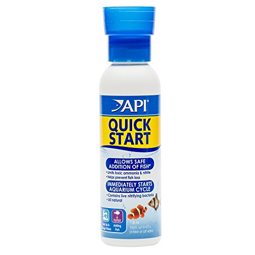 API QUICK START Freshwater and Saltwater Aquarium Nitrifying Bacteria 4-Ounce Bottle (Best Water For Saltwater Aquariums)