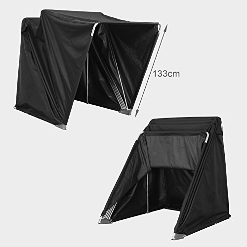 Outdoor cover motorcycle bike tent folding garage - Motorcycle foldable garage tent cover ...