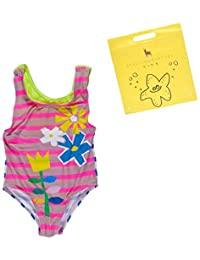 Stella McCartney Kids Womens Molly Striped Floral Swimsuit (Infant/Toddler)