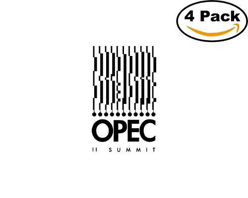 Opec Summit 4 Stickers 4X4 inches Car Bumper Window Sticker Decal
