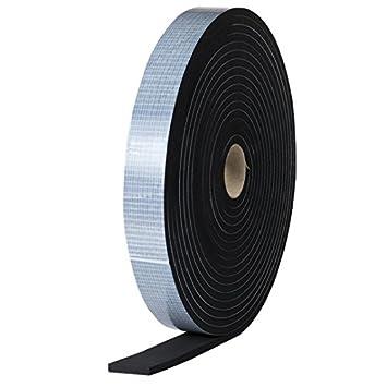 EPDM Zellkautschuk 5mmx1mm einseitig selbstklebend schwarz 10m Rolle