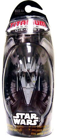 Japan Import Star Wars Titanium Series EXCLUSIVE Diecast Mini Imperial V-Wing Starfighter