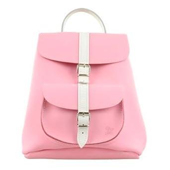 5b01b8ee83 Grafea Amelia Genuine 100% Leather Backpack Light Baby Pink with White  Strap Bag  Amazon.co.uk  Clothing