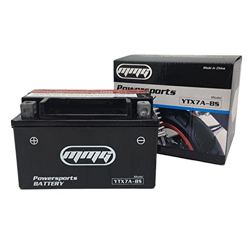 MMG YTX7A-BS High Performance Maintenance Free 12v Battery Replaces Yuasa Exide Deka Delco Interstate