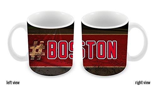 BleuReign(TM) Hashtag Boston #Boston Baseball Team 11oz Ceramic Coffee Mug
