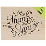 Hero Arts K5870 Thank You with Flourishes Woodblock Stamp